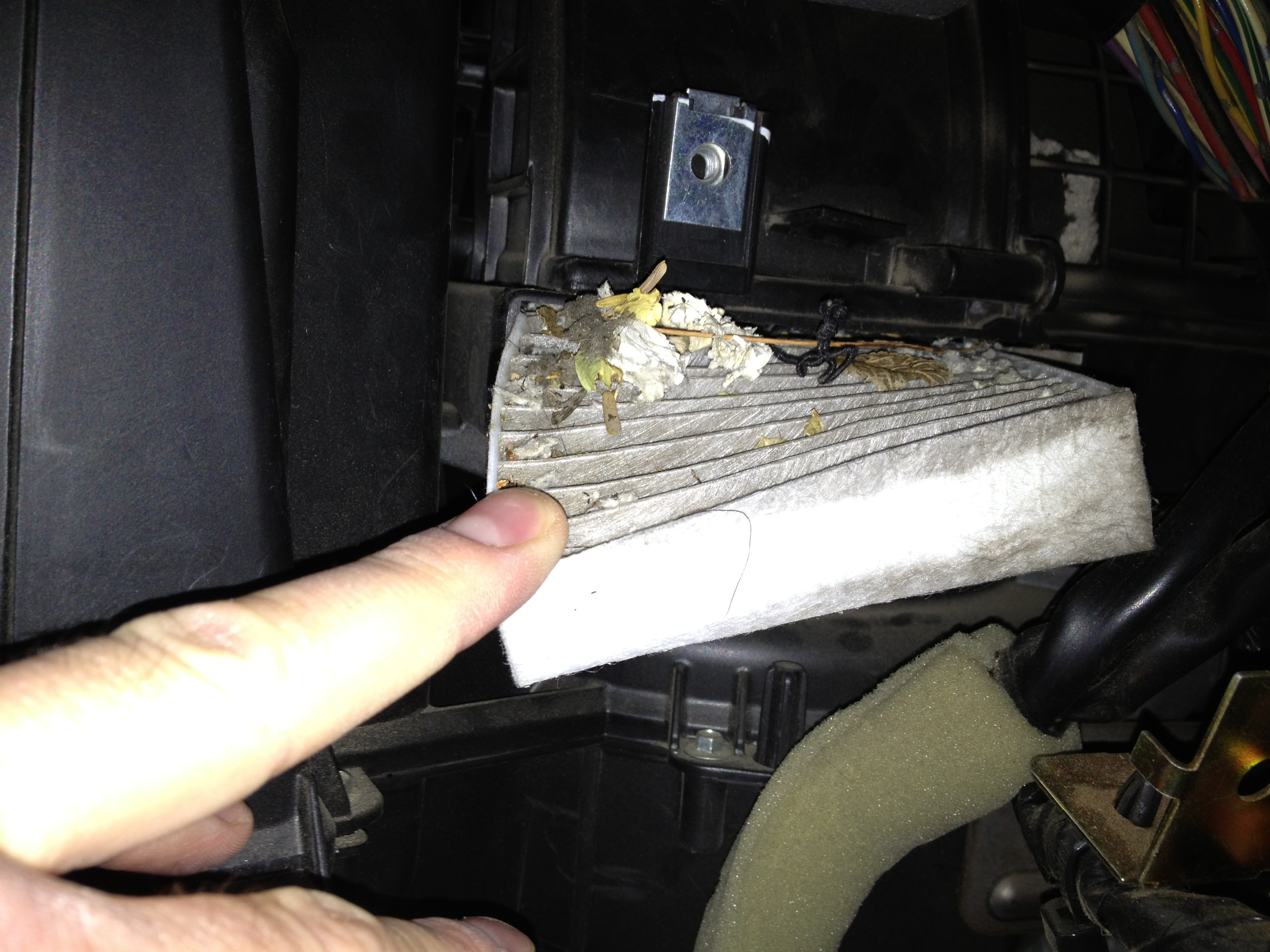 Captivating Dirty Cabin Air Filter